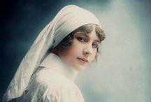 Nurse WW1 / Photos colorisées d'infirmières durant la première guerre mondial