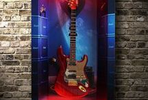 Guitar Display, Cabinet, / Guitar wall displays for guitar collectors and also for everyone who is looking for original home decor.