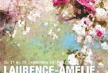 Artiste Laurence Amélie / Peintre contemporaine - fleurs  et tutus