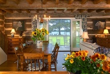Log home living / by Cathy Thompson Sauer