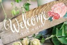 | Wedding Signs | / Elegant and Rustic Wedding Sign Inspiration using reclaimed materials and chalkboard.