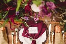 | Fall Wedding Inspiration | / Rustic Backdrops, Groves of rust-colored trees - we love all things Autumn!