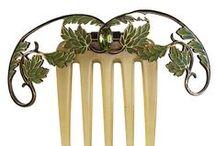 Art Deco-Art Nouveau-Peinetas
