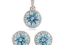 Aquamarine wedding / Custom Jewelry for your bridal party.. in Aquamarine