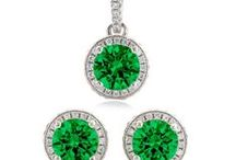 Emerald Wedding / Custom Jewelry for your Bridal Party --- in Emerald