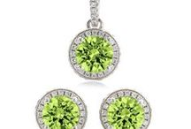 Peridot Wedding / Custom Jewelry for your bridal party.. in Peridot