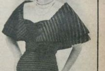 stripes! / vintage designs with an interesting use of striped fabric. Original pictures from vintage magazines