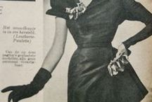 interesting skirt shapes / Dresses from the 1940's and 50's with unusual skirt designs.