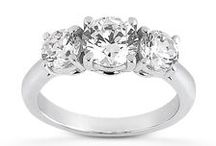 Diamond Castle Engagement Rings - Three Stones / Celebrate your past, present and future.