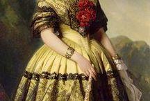 Historical dresses in art