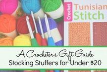 CROCHET - Crocheter's Gift Guide / Gift Ideas for the Crocheter in your Life! Please PIN items you as a crocheter would love to receive. Ideas include: stitch markers, yarn, crochet books, crochet tools, gauge tools, more yarn, crochet bags, crochet hook cases, crochet hooks...