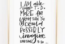 Hand lettering - Christian Hand Lettering / A Christian hand lettering board for your Bible journaling inspiration!