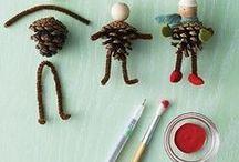 Kids - Pinecone Crafts / Pinecone crafts, kids pinecone crafts, kids Christmas pinecone craft, DIY pinecone craft, DIY pinecone icicle craft, pinecone owl craft