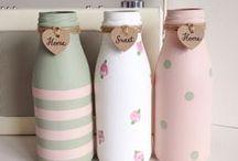 Kids - Milk Bottle Crafts / DIY Milk Bottles, DIY Milk bottle art, DIY Christmas milk bottles, DIY milk bottle crafts, DIY bottle art, bottle crafts, bottle painting