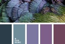 Green and purple / Color combo of shades of green and purple
