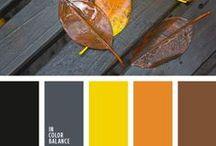 Autumn colors / Autumn colors, color scheme for autumn, colors of fall, autumn colors combination
