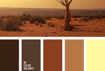 Monochromic brown color pallets / All shades of brown color in monochrome color combination