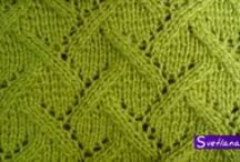 vzory pro ruční pletení / vzory na pletení