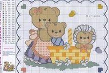 dětské motivy - křížkové vyšívání / návodu pro křížkovou vyšívku