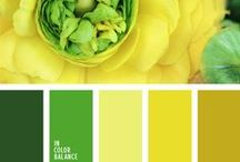 Yellow and green / Yellow and green color inspiration