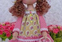 muñecas de telas / manualidades de telas y lanas