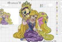 princezny - křížkové vyšívání / křížkového vyšívání