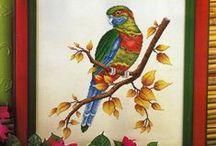 ptáci - křížkové vyšívání / návodů pro křížkovou vyšívku