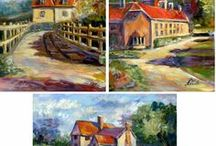 2006 Cities and buildings, oil paintings by Margaret Raven / I invite you for watching Małgorzata's Kruk archival art gallery from many years from the past. They all are made by oil or less acryl painting on canvas with technique impasto, stretched on the wooden loom.  It's contain original artworks since 1995 year including categories like a: flowers, landscapes, seascapes, mountains, meadows, modern painting, abstraction, animal, art deco, people, still life, yachts and boats.