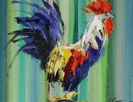 2017 Animals, oil paintings by Margaret Raven / I invite you for watching Małgorzata's Kruk archival art gallery from many years from the past. They all are made by oil or less acryl painting on canvas with technique impasto, stretched on the wooden loom.  It's contain original artworks since 1995 year including categories like a: flowers, landscapes, seascapes, mountains, meadows, modern painting, abstraction, animal, art deco, people, still life, yachts and boats.