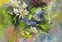 2016 Flowers, oil paintings by Margaret Raven / I invite you for watching Małgorzata's Kruk archival art gallery from many years from the past. They all are made by oil or less acryl painting on canvas with technique impasto, stretched on the wooden loom.  It's contain original artworks since 1995 year including categories like a: flowers, landscapes, seascapes, mountains, meadows, modern painting, abstraction, animal, art deco, people, still life, yachts and boats.