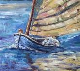 2011 Boats and yachts, oil paintings by Margaret Raven / I invite you for watching Małgorzata's Kruk archival art gallery from many years from the past. They all are made by oil or less acryl painting on canvas with technique impasto, stretched on the wooden loom.  It's contain original artworks since 1995 year including categories like a: flowers, landscapes, seascapes, mountains, meadows, modern painting, abstraction, animal, art deco, people, still life, yachts and boats.