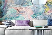 Pastels / Rooms & decor in pastel shades.