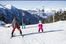 Family skiing in Ötztal valley