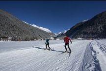 cross - country skiing in Ötztal valley / Langlaufen