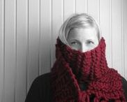 cowls + scarves + other neck things / knit, crochet