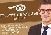 Ottica Punti di Vista - Gravina in Puglia / L'Ottica Punti di Vista offre una vasta gamma di montature vista e da sole delle migliori firme, dallo stile e design adatti per ogni stile e moda. ottica punti di vista e' sinonimo di professionalita' e qualita'.