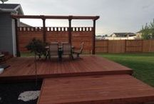 Backyard Projects / These are some of the best looking fences, decks, grow boxes, and patios.