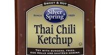 Thai Chili Ketchup / Sweet and tangy with a spicy, chili flavor. Use it as a dip for sweet potato fries or as an ingredient for sweet and spicy chicken wings. GIVEITZING™