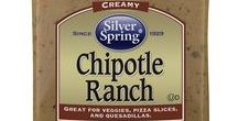 Chipotle Ranch / Our new Chipotle Ranch is a delicious blend of bold flavors to bring excitement to your favorite foods; particularly the foods you love with traditional ranch. Spice up a BBQ chicken salad, top potato skins or use it as an ingredient. It's always an occasion with Silver Spring's Chipotle Ranch. GIVEITZING™
