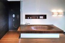 Salle de bain bois / Salle de bain bois / Salle d'eau / Wooden Bathroom / Protection & décoration bois
