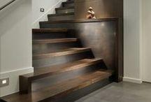 Escalier en bois / Wooden Stairs - Style et décoration bois pour l'escalier - Architecture & nature