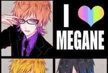 megane anime boys