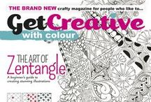 Get Creative With... Issue 2 - Zentangle / Issue 2 of Get Creative With is out now and all about Zentangle! There is so much to learn about this fascinating craft! Inside you will find out how to get started, what you will need, step-by-step guides, interviews with certified teachers and much more! Visit www.getcreativewith.co.uk