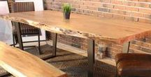 Natural Acacia Wood Tables / Acacia is the sacred wood that was used to build Noah's ark. Now you can enjoy tables made of this exotic wood that can last your lifetime. Beautifully handcrafted, acacia tables come in different shapes and sizes to accommodate all kinds of living spaces.