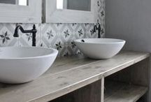 Bathrooms / Inspiration for adding personality to a builder-basic bathroom.  / by Amanda @ Our Storied Home