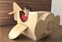 Cardboard Box Play / by OurStoriedHome