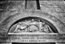SAN CAMILLO DE LELLIS / In occasione del quarto centenario di San Camillo de Lellis (Bucchianico, 25 maggio 1550 – Roma, 14 luglio 1614), il santo fondatore dell'Ordine dei Chierici Regolari Ministri degli Infermi (Camilliani), ecco altre foto scattate presso la Basilica di San Camillo de Lellis agli Orti Sallustiani, una splendida chiesa di Roma, dedicata al santo ed eretta agli inizi del XX secolo nel rione Sallustiano, di cui è parrocchia, in via Sallustiana all'angolo con via Piemonte