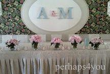 Moje ślubne dekoracje sal /  Moje pomysły na dekoracje sal weselnych https://www.facebook.com/perhaps4jou