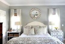 Grey / Grey bedroom inspiration.