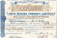 My stock: Share Certificates / Early Johannesburg collectable share certificates
